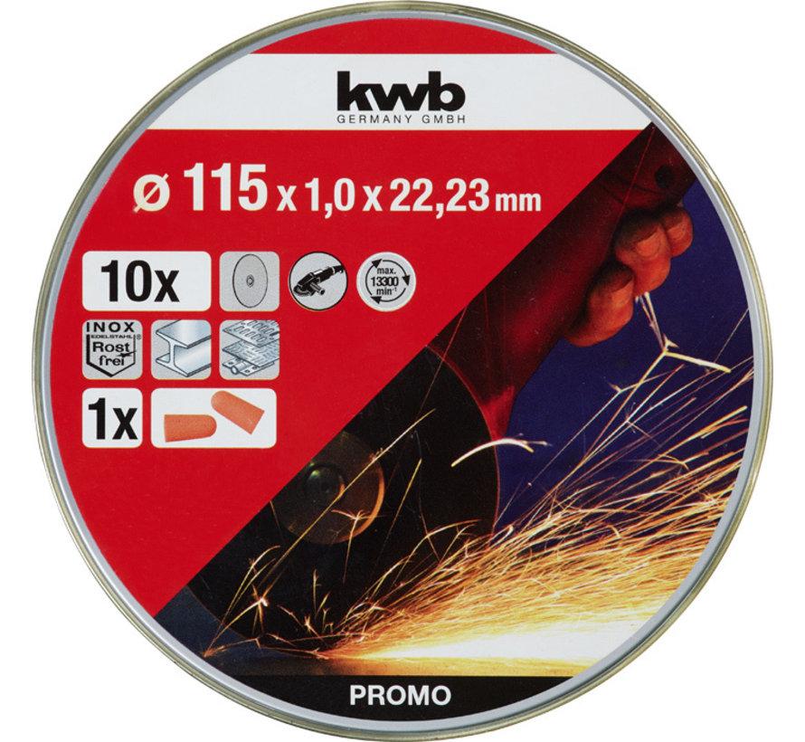 KWB Doorslijpschijf DUN 115 x 1,0 x 22,23 mm
