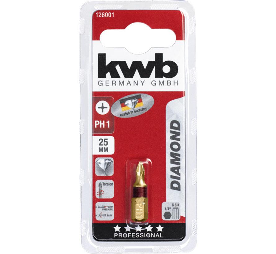 KWB Bit Phillips 1 - 25 mm DIAMOND