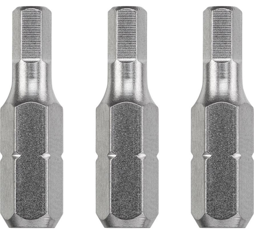KWB Bit zeskant 3,0  - 25 mm INDUSTRIAL STEEL - 3 stuks