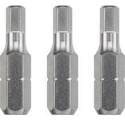 KWB Bit zeskant 4,0  - 25 mm INDUSTRIAL STEEL - 3 stuks
