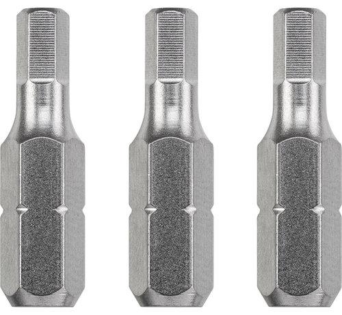 KWB KWB Bit zeskant 4,0  - 25 mm INDUSTRIAL STEEL - 3 stuks