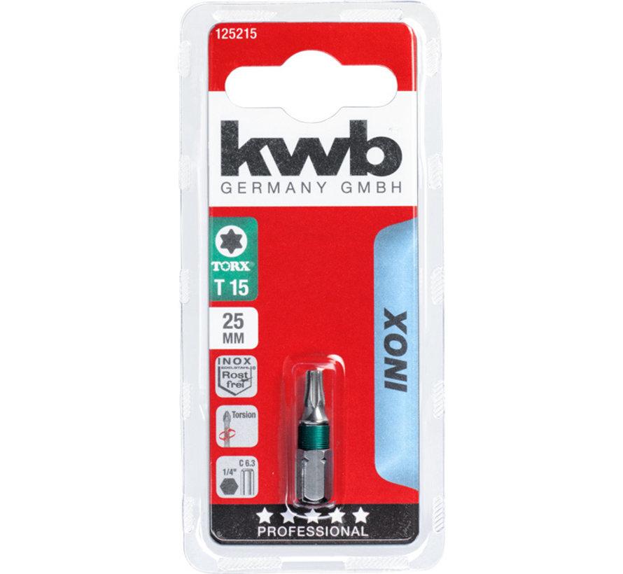KWB Bit Torx 15- 25 mm INOX