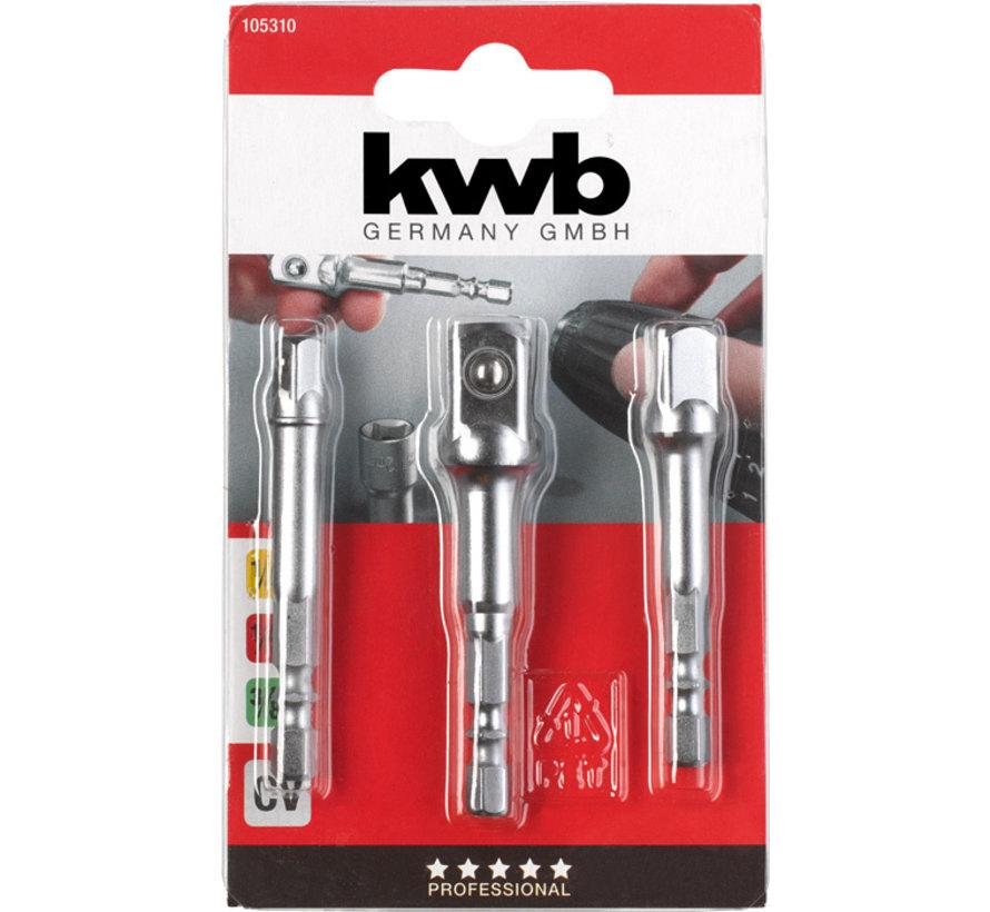 KWB Adapterset voor dopsleutels, 3-delig