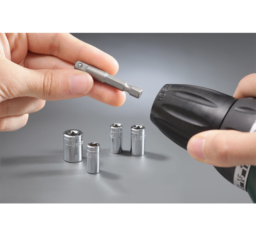 KWB Dopsleutelset met adapter, 5-delig