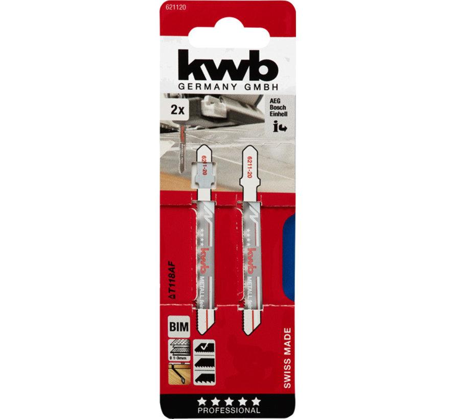 KWB Decoupeerzaagbladen BIM T118BF T-schacht Medium
