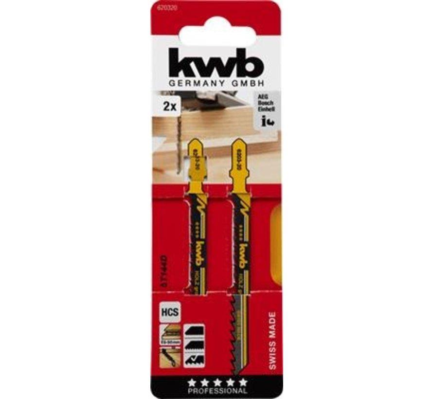 KWB Decoupeerzaagbladen HCS T144D T-schacht Grof