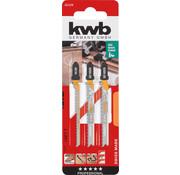 KWB Decoupeerzaagbladen BIM & HCS  T-schacht 2 x Fijn, 1 x Curve