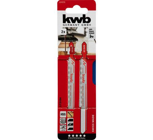 KWB KWB Decoupeerzaagbladen HSS T318A T-schacht Fijn lang