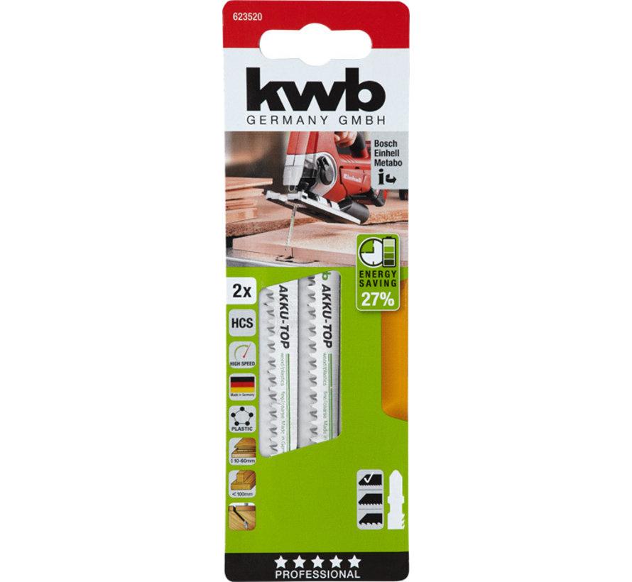 KWB Decoupeerzaagbladen Akku-Top HCS T-schacht Fijn