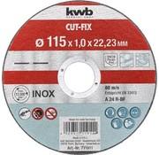 KWB Doorslijpschijf 115 x 1,0 x 22,23 mm CUT-FIX® INOX