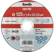 KWB Doorslijpschijf 125 x 1,0 x 22,23 mm CUT-FIX® INOX