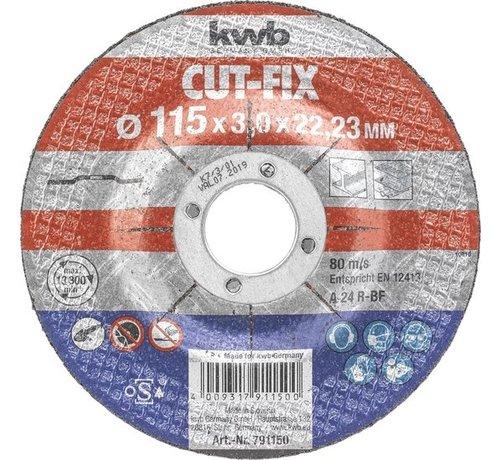 KWB KWB Doorslijpschijf 115 x 3,0 x 22,23 mm CUT-FIX® STAAL