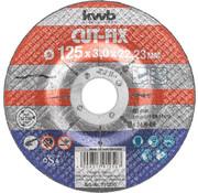 KWB Doorslijpschijf 125 x 3,0 x 22,23 mm CUT-FIX® STAAL