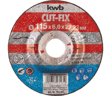 KWB Afbraamschijf 115 x 6,0 x 22,23 mm CUT-FIX®