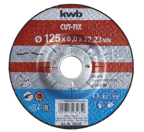 KWB KWB Afbraamschijf 125 x 6,0 x 22,23 mm CUT-FIX®