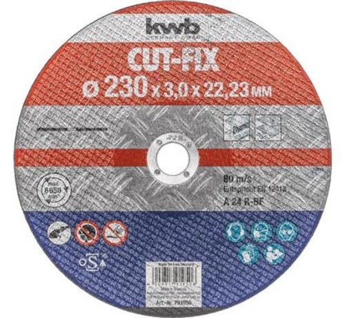 KWB KWB Doorslijpschijf 230 x 3,0 x 22,23 mm CUT-FIX® STAAL