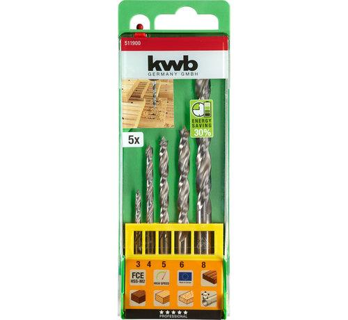 KWB KWB Hardhoutboren set  FCE 5-delig