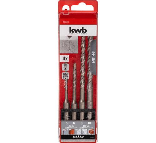 KWB KWB Hamerborensets SDS-plus HB44 4-delig