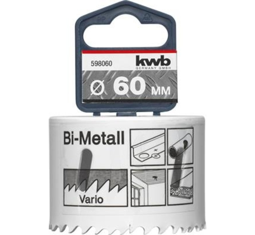 KWB Gatenzaag Bimetaal HSS - CO 60mm