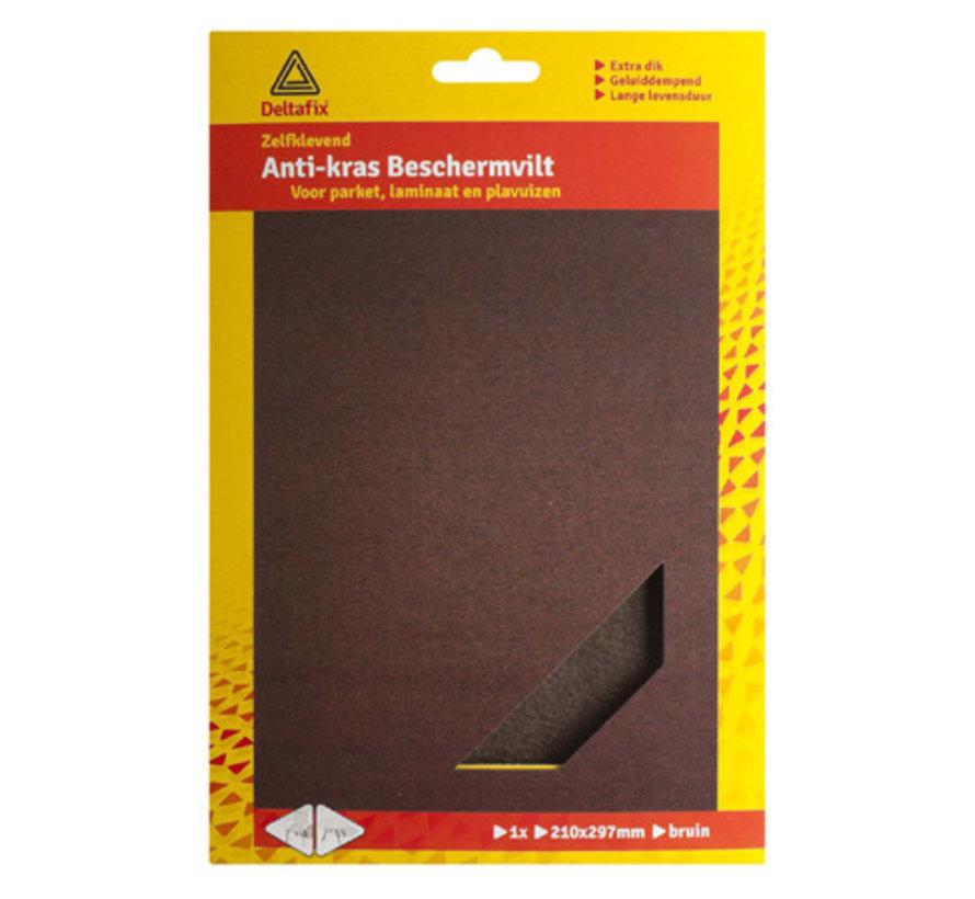 Anti-krasvilt A4 Formaat Zelfklevend Bruin