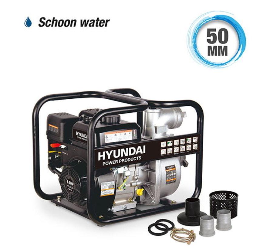 Hyundai Benzine motorpomp  196CC - 6 PK (schoonwater)