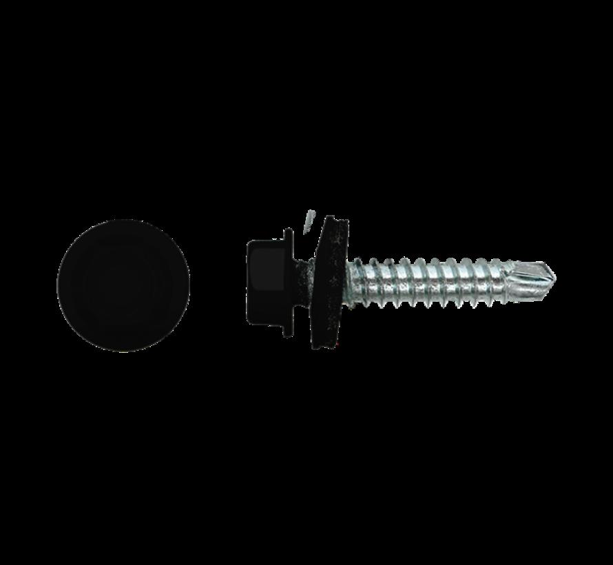 Damwandschroef 35mm Ral 9005