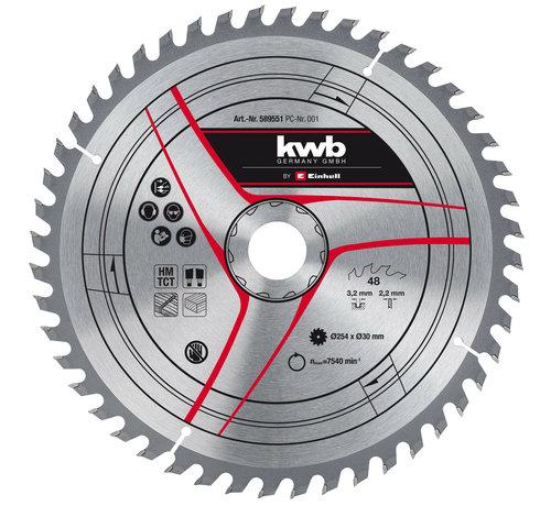 KWB KWB Zaagblad 254 x 30 x 2,2 mm 48 Tands