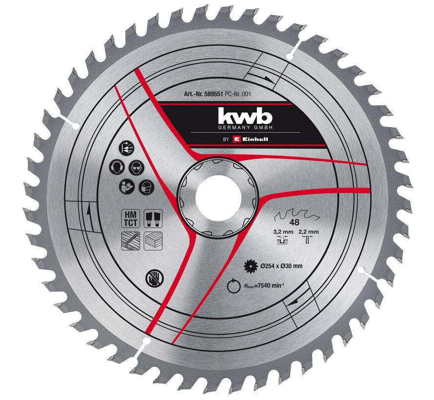 KWB Zaagblad 254 x 30 x 2,2 mm 48 Tands