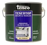 Tenco Tencotop Deur & Kozijn Dekkend Zijdeglans RAL 9001 Crème Wit - 2,5 L