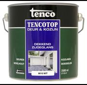 Tenco Tencotop Deur & Kozijn Dekkend Zijdeglans RAL 9010 Wit - 2,5 L