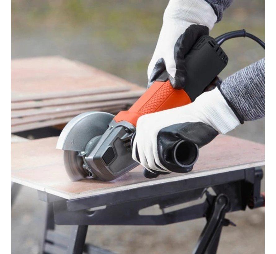 BLACK+DECKER Haakse slijper 750W BEG110A3 Kit Met slijpschijven