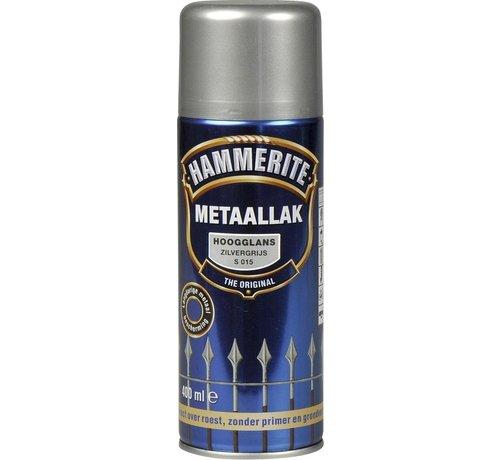 Hammerite Hammerite Metaallak  Spuitbus Hoogglans Zilver Grijs - 400 ml