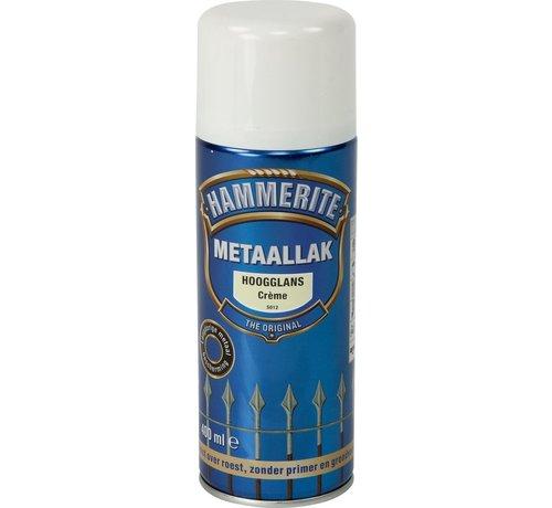 Hammerite Hammerite Metaallak  Spuitbus Hoogglans Crème - 400 ml