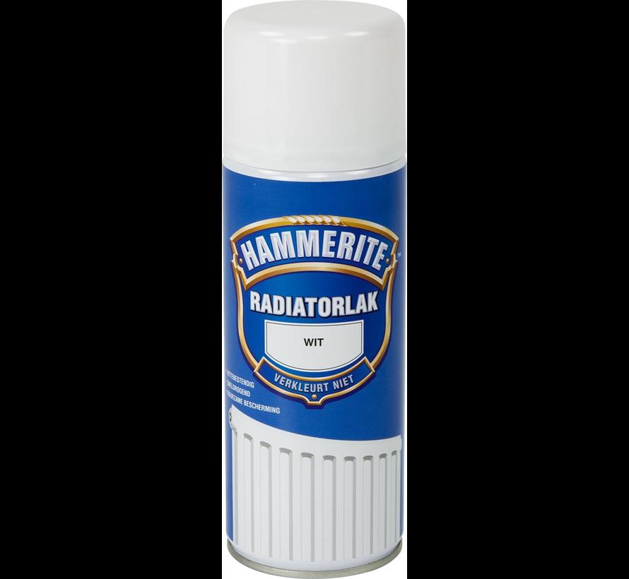 Hammerite Radiatorlak Spuitbus Wit - 400 ml