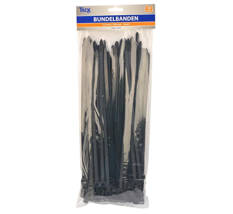 Bundelbandjes zwart 4,8 mm 350 mm - 100stuks