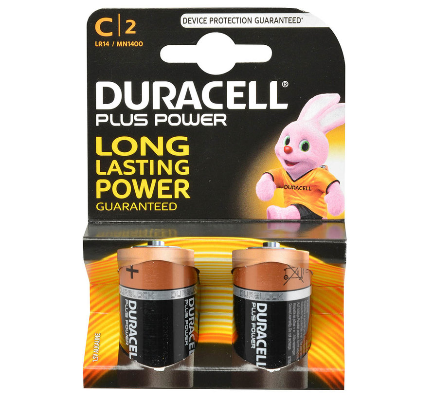 Duracell Batterij C super alkaline 2 X C 1.5V