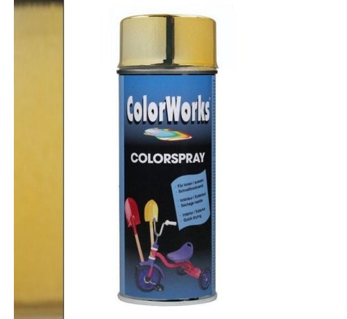 Motip Colorworks Spuitbus Goud 400 ML