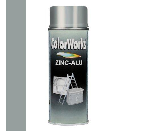 Motip Colorworks Spuitbus Zinkspray ALU-Zink - 400ML