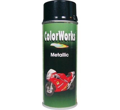 Motip Colorworks Spuitbus Metallic Black - 400ML