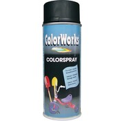 Motip Colorworks Spuitbus Colors ZG Zwart - 400ML
