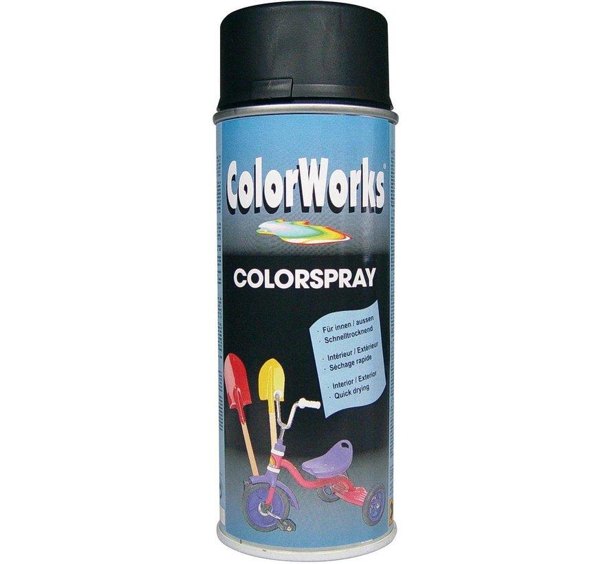 Colorworks Spuitbus Colors ZG Zwart - 400ML