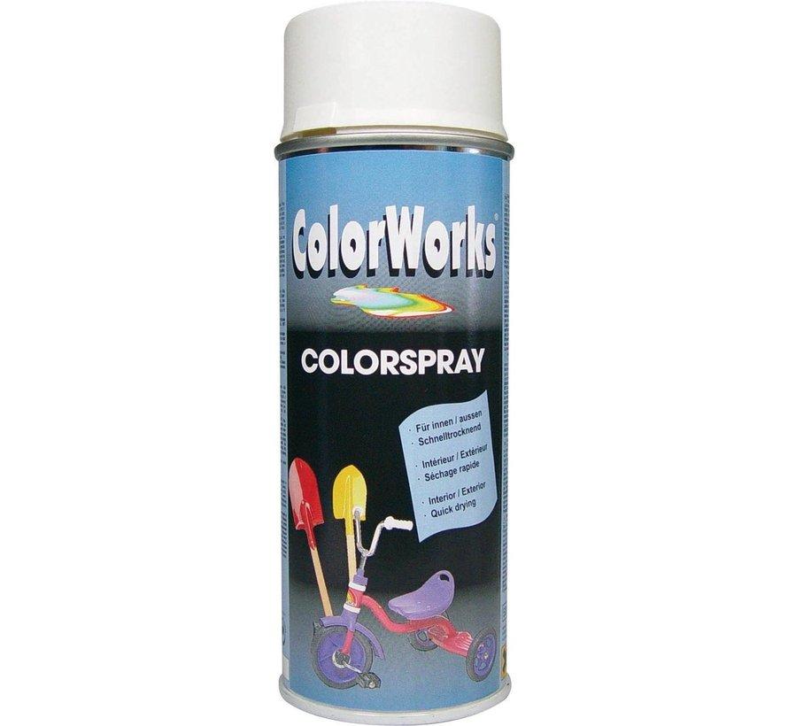 Colorworks Spuitbus Colors ZG Wit - 400ML