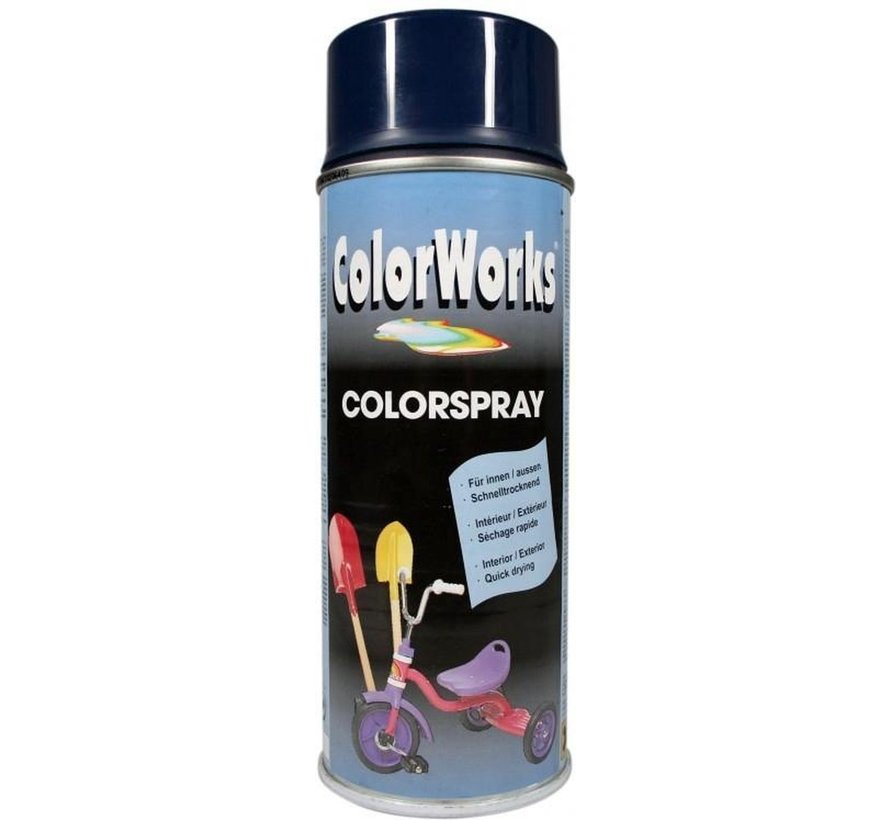 Colorworks Spuitbus Colors Staal Blauw - 400ML