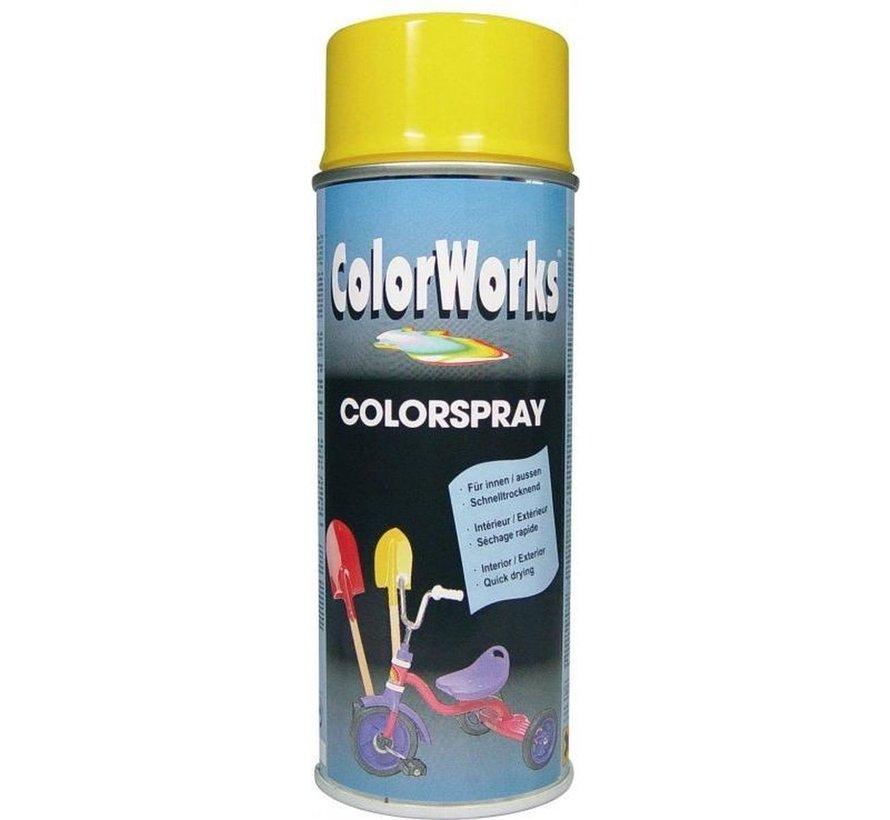 Colorworks Spuitbus Colors Sunshine Yellow - 400ML