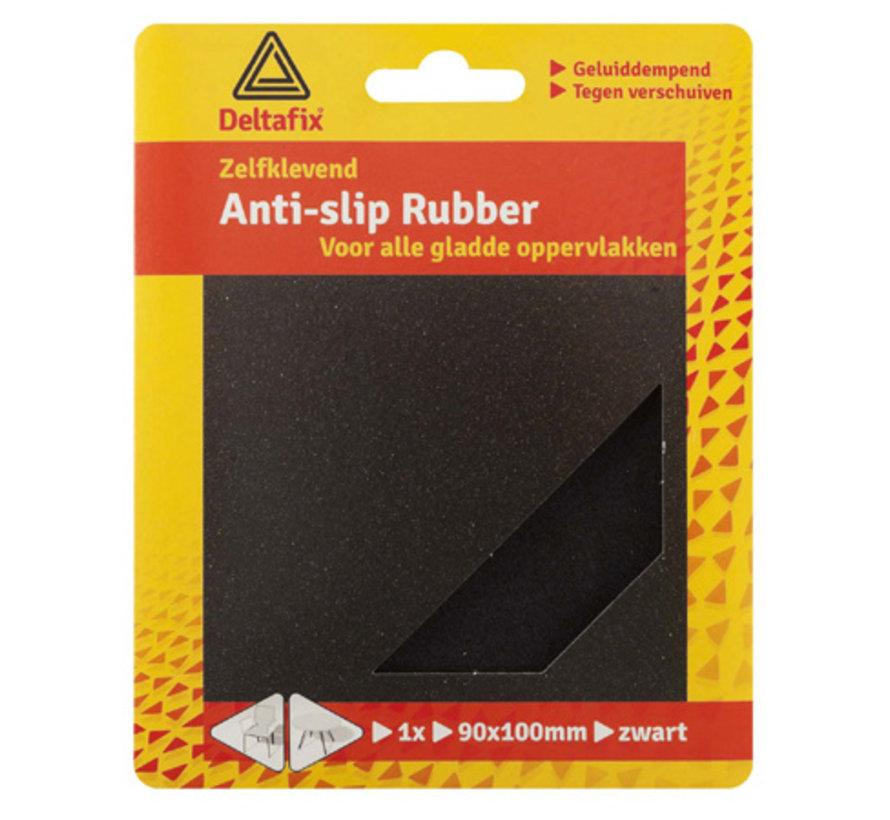 Anti-slip Rubber 90x100mm Zwart 1 Vel