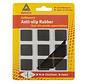 Anti-slip Rubber Vierkant 25x25mm Zwart 9 Stuks
