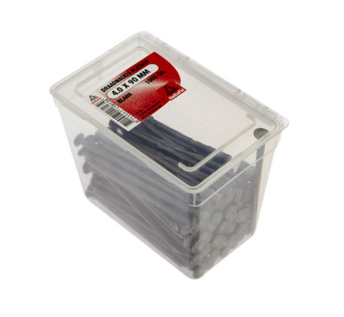 Deltafix Draadnagels Platkop 4.0x90mm Blank 1000 Gr.