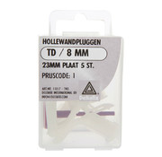 Deltafix Hollewandpluggen 23 mm plaat TD/x8 mm 5 stuks