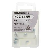 Deltafix Kastverbinders wit 40x14 mm 4 stuks