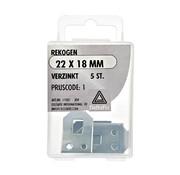 Deltafix Rekogen verzinkt 22x18 mm 5 stuks